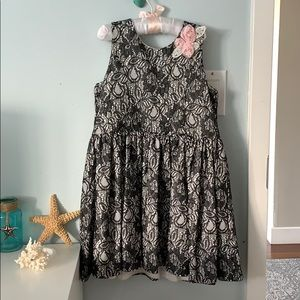 Girl's Black lace party dress. Size 6